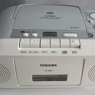【中古】東芝 ラジオカセットレコーダー TY-CK1