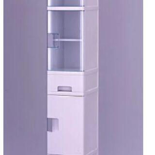 洗面所 キッチン 隙間収納 扉付き ラック グレー