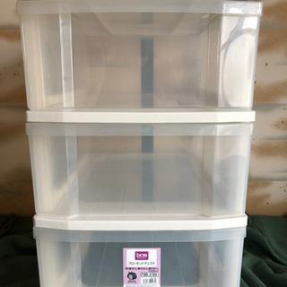 収納ケース 収納棚 プラスチックケース 三段ケース 洋服棚