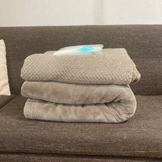 無印良品 シングルサイズ毛布2点 圧縮袋付き