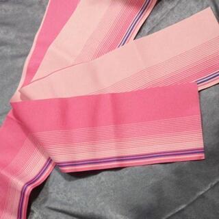 👘 浴衣 帯 桃色×桜色 リバーシブル ★ 半幅帯 半巾帯 浴衣帯