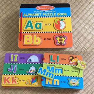 海外ブランドMelissa & Dougの英語パズル/磁石の本