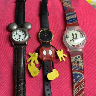 ミッキーマウス 腕時計 3点セット レディース