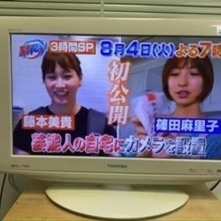 22型テレビ TOSHIBA REGZA 22RE1