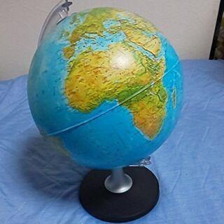精密地球儀  直径25cm 高さ38cm