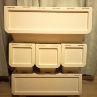 【引取限定】スタックボックス キャリコ カインズ 収納 L×2個...