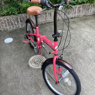 【取引中】20型折りたたみ自転車6段 - 稲沢市
