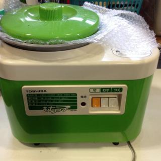 もちっこ  餅つき機  緑   レトロ家電