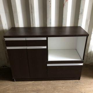 0805-5 キッチン収納棚 こげ茶