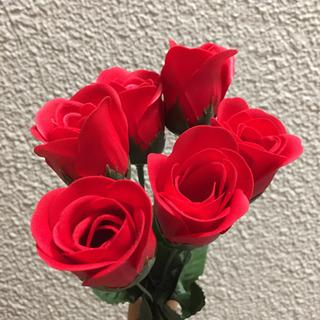 ソープフラワー バラ 薔薇 6本 プレゼント などに お見舞い ...