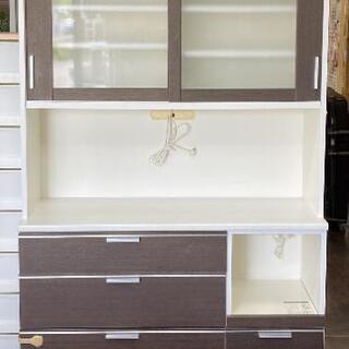 キッチンボード ブラウン  食器棚  120cm