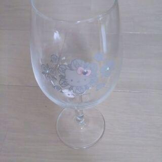 数回使用キティちゃんのワイングラス