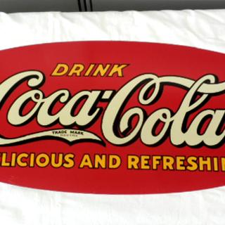 コカ・コーラ リボン型 看板 レトロポップ Coca-Cola ...