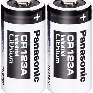 panasonic 電池 CR123A (ほぼ新品?)2個