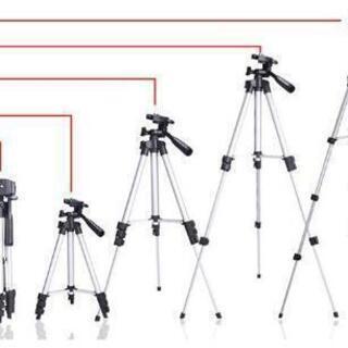 カメラ三脚 130cm 4段 3WAY雲台 アルミ 収納ケ…