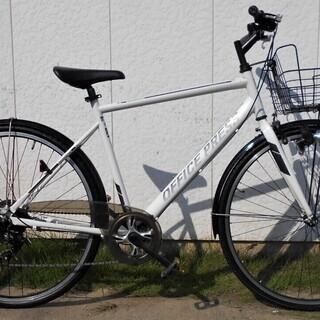 OFFICE PRESSクロスバイク700X32Cライト・カゴ・...