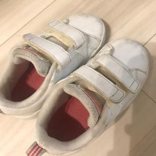 adidas 子供靴 ホワイト✖️ピンク 14㎝