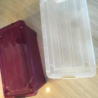 収納ケース 紫 透明