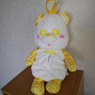 え~パンダ ティッシュカバー【黄色】