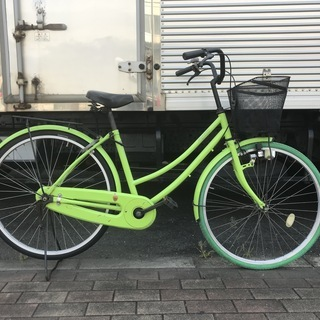 格安出品 26インチ シティーサイクル 整備済み 緑  自転車