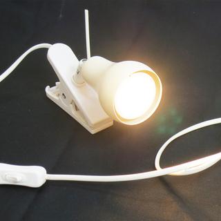 ★IKEA☆LEDクリップ式スポットライト★ホワイト★LED電球...