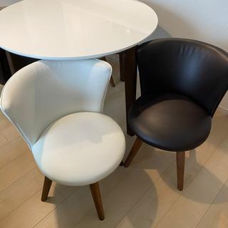 ダイニングセット 丸テーブル 回転椅子
