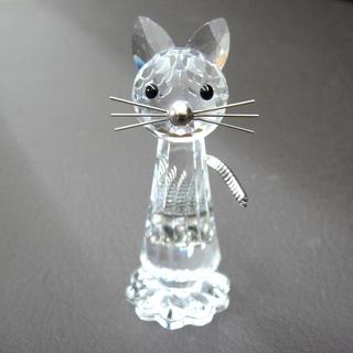 スワロフスキー 置物 ネコ