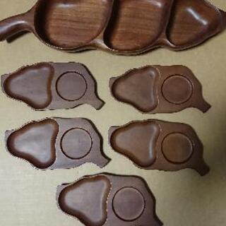 木製プレート  カフェトレイ  木製ボウル  昭和レトロ