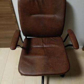 ニトリ ワークチェア ブラウン 椅子