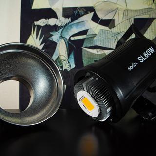 GODOX SL-60W ビデオカメラライト LEDスタジオライ...