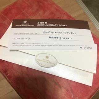 沖縄バーバービューホテル ランチ券!