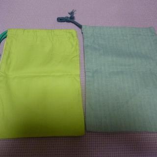 ハンドメイド 巾着2枚セット