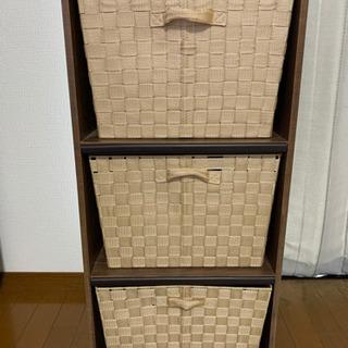 【お譲り先決定】三段ボックス(収納ボックス付き)
