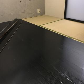 6畳用 フローリングカーペット 黒 ブラック
