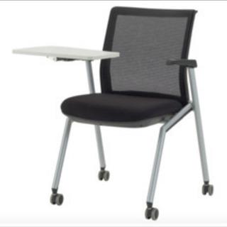 新品オリバー テーブル付きミーティングチェア ブラックSCM42...