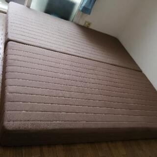 シングルベッド 脚付き マットレス2個