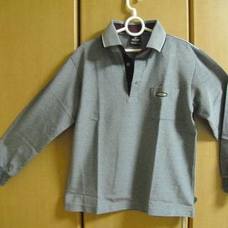 メンズ・ポロシャツ(ダンロップ)M色特殊な柄のグレー(新品、未使用)