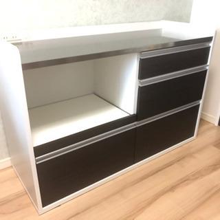 【配送可】キッチンカウンター/家電収納/食器棚