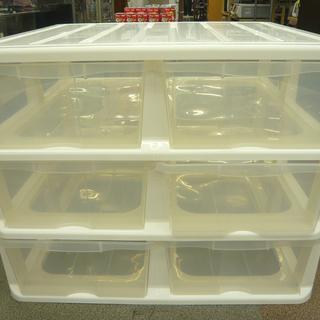 押入れ収納ケース 引出し6個 3段タイプ プラスチック収納 衣類...