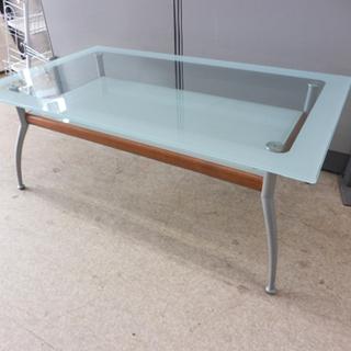 ガラステーブル センターテーブル リビングテーブル ローテーブル...