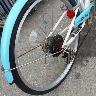 子供用24インチ自転車変速付 - 高知市