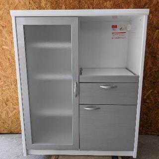 【売約済み】レンジボード 食器棚 キッチンボード スライド…