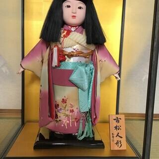 市松人形 玉秀作 ガラスケース付き(値下げ)