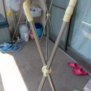 室内外用折りたたみ式物干しハンガー2個セット