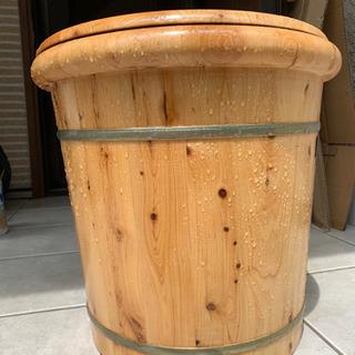 足湯用木製桶
