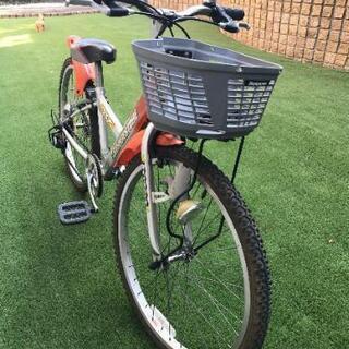 24㌅  子供用自転車  ブリジストン  6段ギア オレンジ  ...