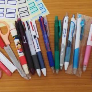 文房具セット 修正テープ、はさみ、インデックスシール、3色ボールペン等