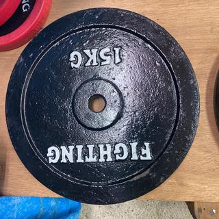 ファイティングロード  プレート 15キロ 2枚セット