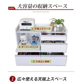 【超美品】キッチンカウンター(120サイズ キャスター付)