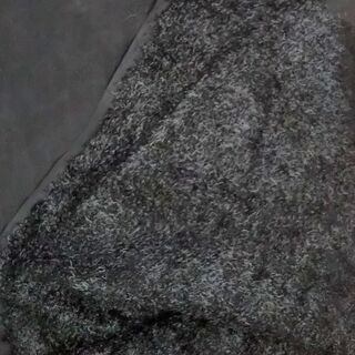 布 生地 黒の伸縮ある布地 ふわふわ